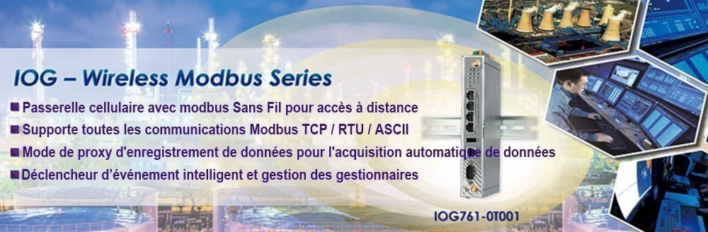 Passerelle cellulaires Modbus et M2M pour applications Industrie intelligente, Utilitaire intelligent, Ville intelligente, applications Extérieures, points de vente, distributeurs et autres applications